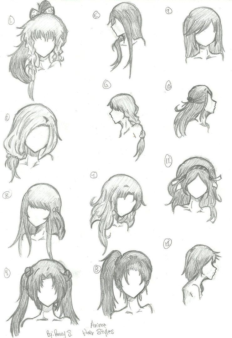 how to style hair like anime hair styles 1 12 by animebleach14 on deviantart sketches 4680