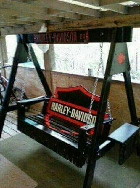 Marvelous Harley Davidson Outdoor Swing