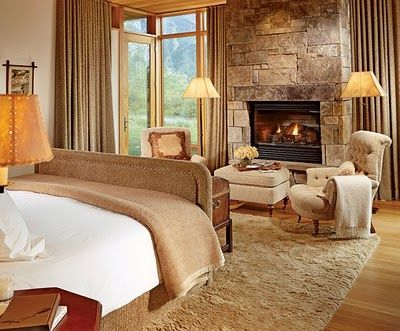 Fireplace In Bedroom Snuggly Blanket Rustic Bedroom Home Home Decor