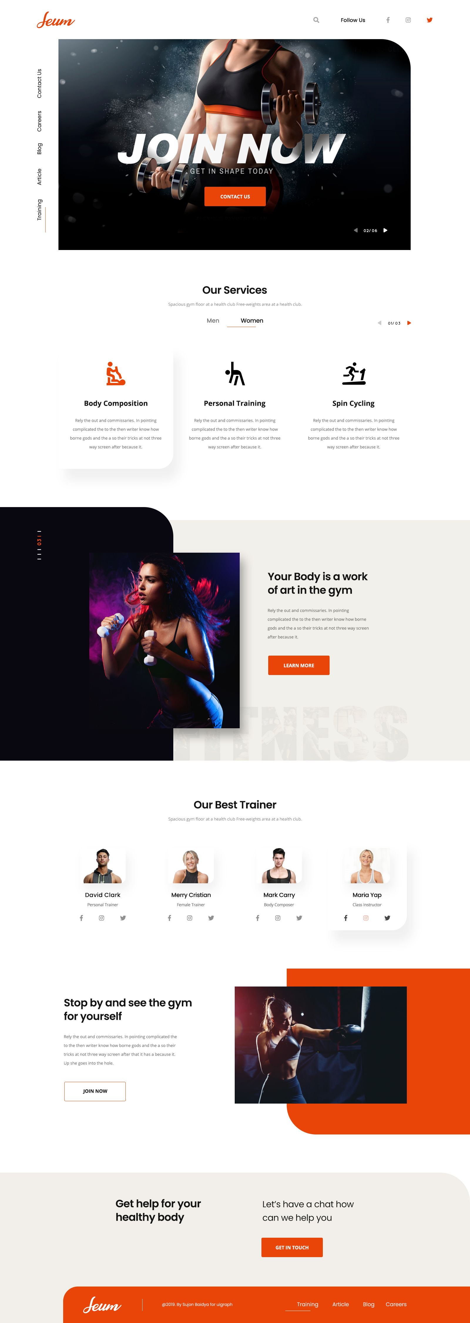 Fitness Landing Page Fitness Web Best Landing Page Design Landing Page