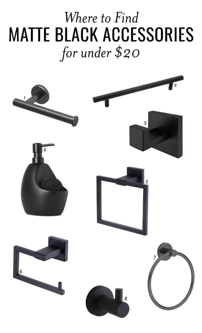 Photo of Matte Black Bathroom Accessories // ORC Week 5