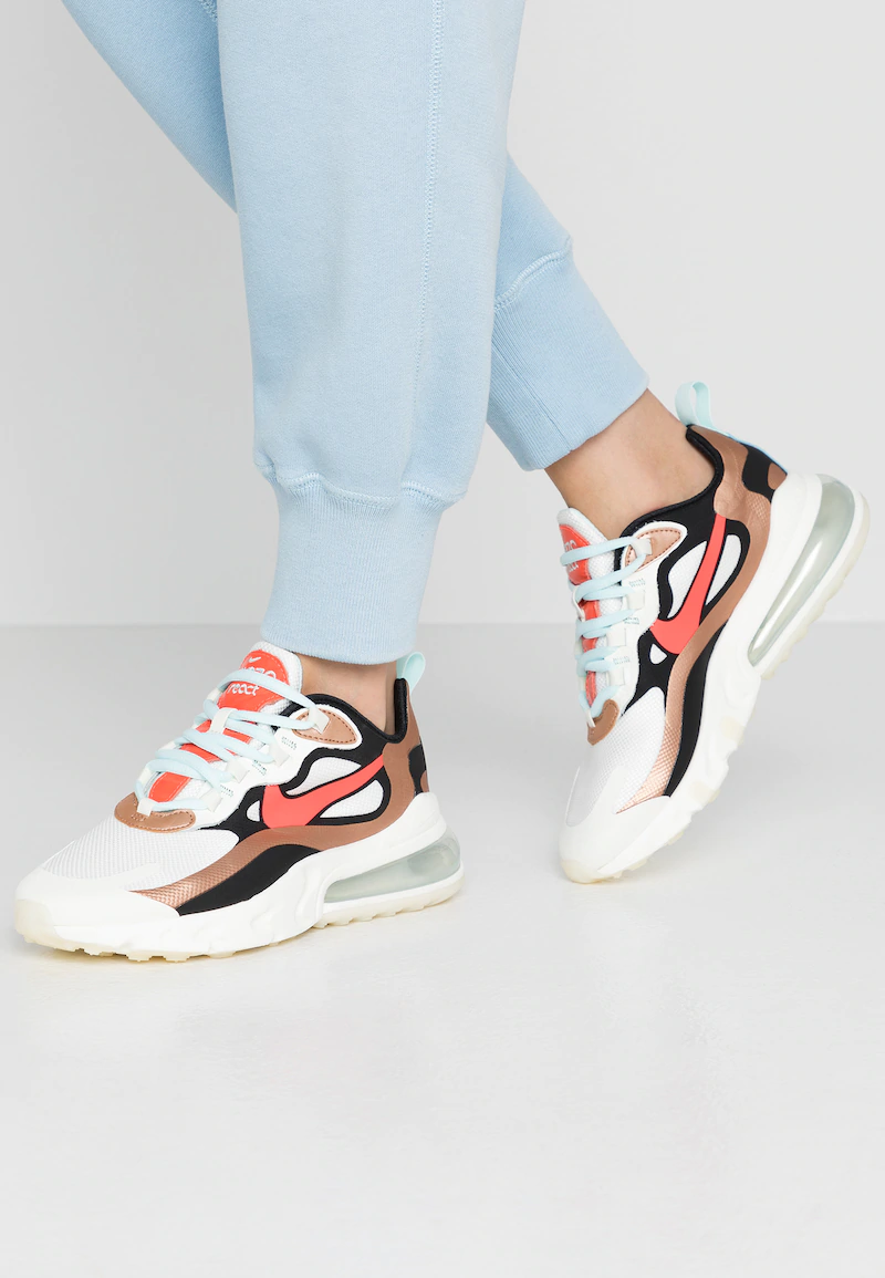 AIR MAX 270 REACT - Sneakers laag - sail/black metallic/red ...