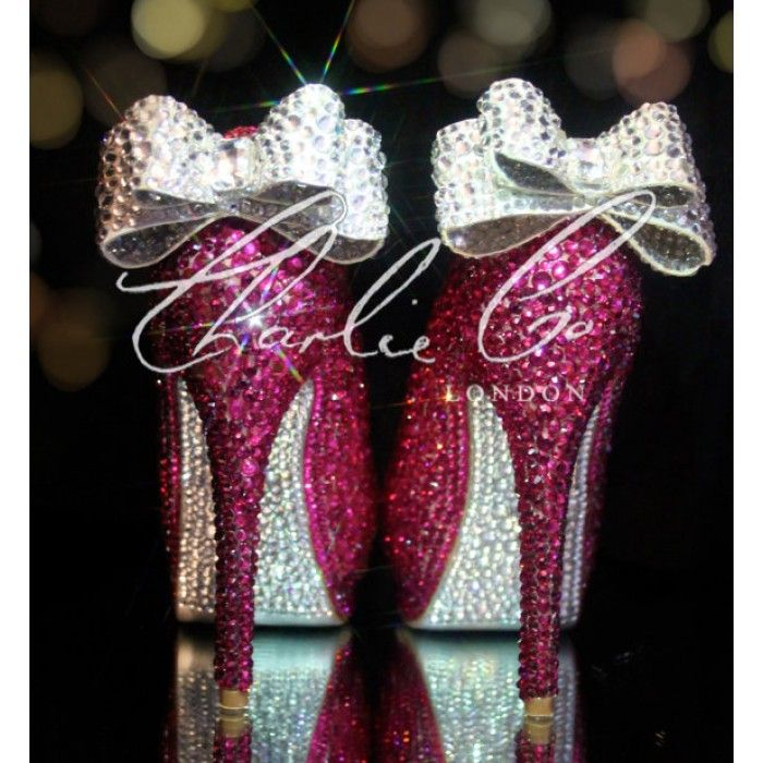Heels Hot Pink Silver Bridal Prom Wedding Evening Occasion Shoes