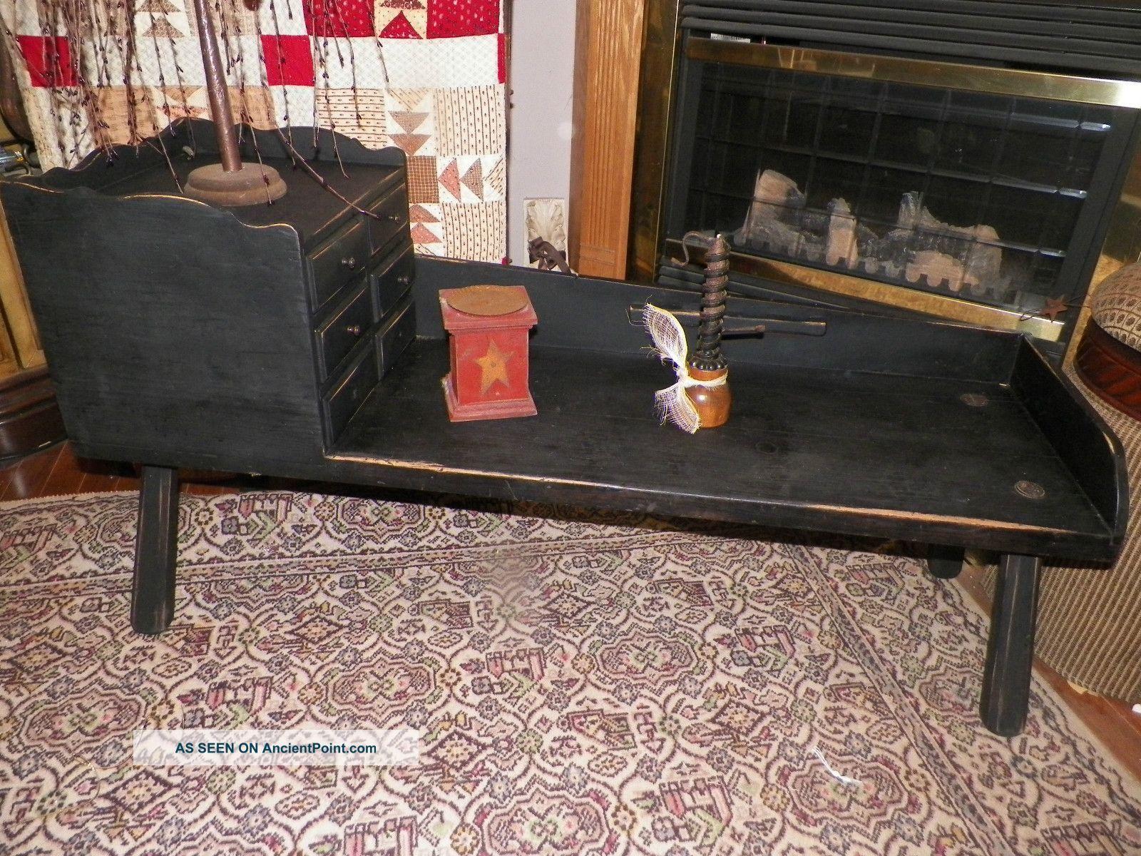 country primitive sofa tables sofas to go cuddler barrel chair bench cobbler 39 s table crock