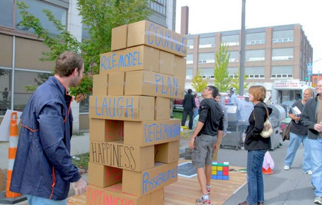 Life Size Jenga Using Cardboard Boxes Fun Games For Kids