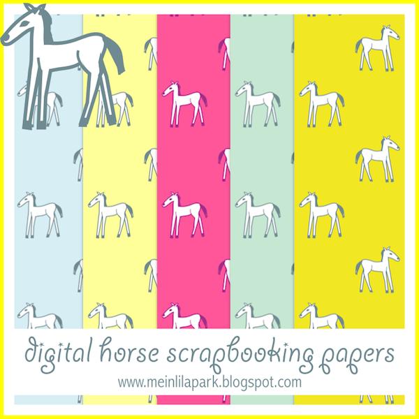 002 free digital horse scrapbooking papers ausdruckbare