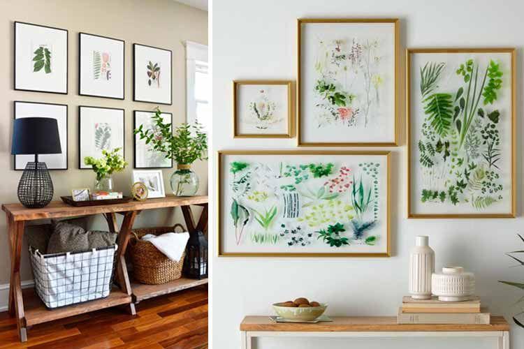 | Decoración botánica para el hogar, un opción refrescante