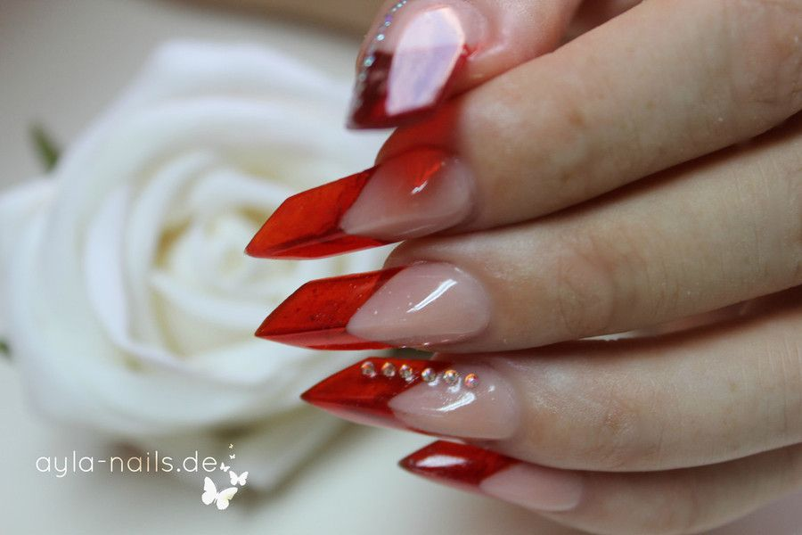 red french edge nail tips: perfect nail sculpture | ✌ -> Nails: the ...