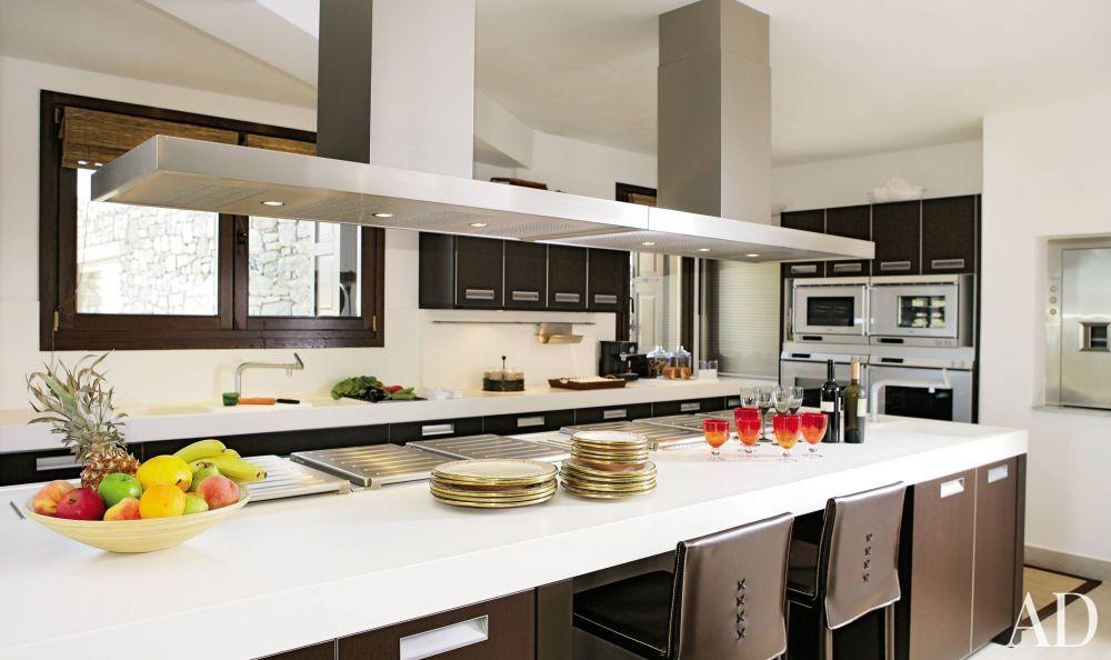 Modern Kitchen Images Architectural Digest Modern Kitchen And Javier Barba In Mykonos Greece  White