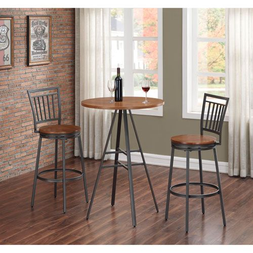 Filmore 3 Piece Pub Height Table Set