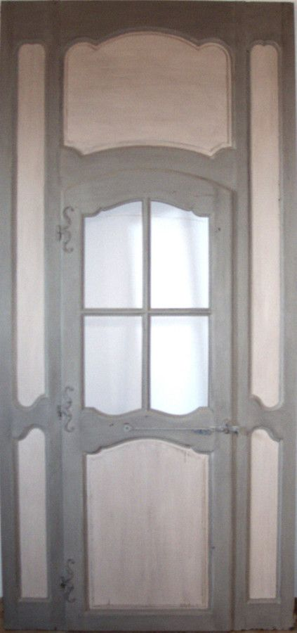 Boiseries et porte vitrée époque Régence Peinture 18ème Portes - Peindre Des Portes En Bois
