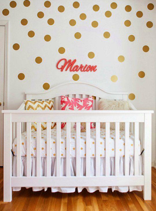 dormitorio-bebe-lunares-1   habitaciones   Pinterest   Dormitorio ...