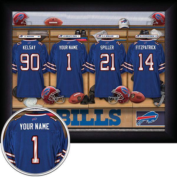 Buffalo Bills Locker Room Print Locker Room Lockers Football Decorations