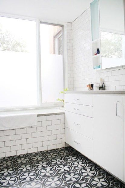 This Or That Mosaic Tile Bathroom Floors Cococozy Bodenfliesen Bad Badezimmer Fliesen Ideen Bodenbelag Fur Badezimmer