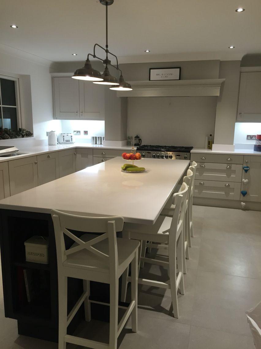 Best Cornforth White Kitchen Purbeck Stone Wall Railings 400 x 300