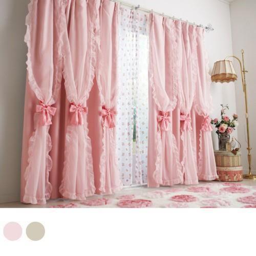 Pink Bow Curtains Casas De Banho Chiques Cortinas Chiques Gastas Cortinas Cor De Rosa