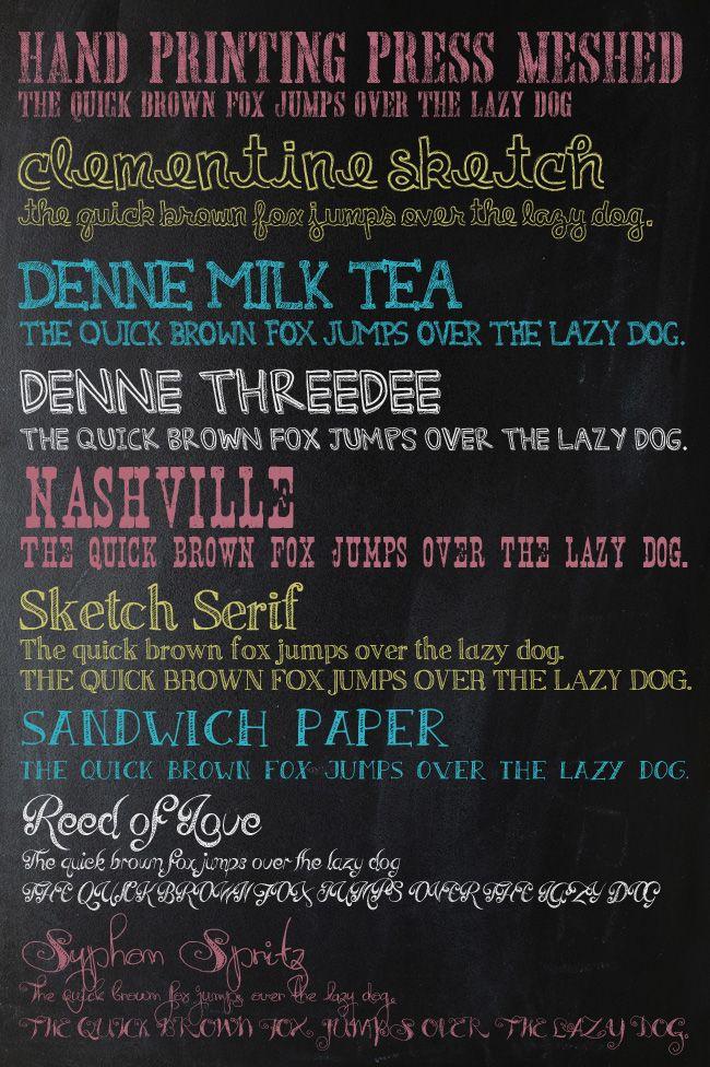 My 25 favorite free chalk fonts fonts chalkboard fonts and chalkboards for Chalkboard font ideas