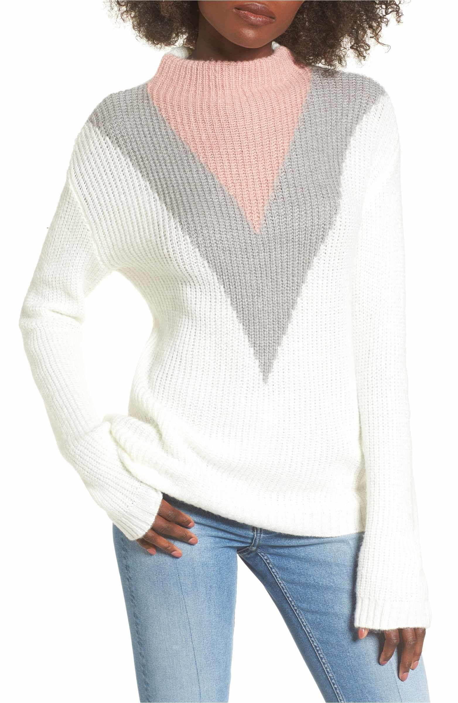fda534505 Main Image - Cotton Emporium Tri-Color Après Ski Sweater