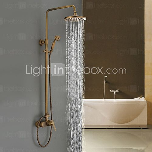 Sprinkle® by Lightinthebox - Antique Brass Tub Shower Faucet with 8 ...