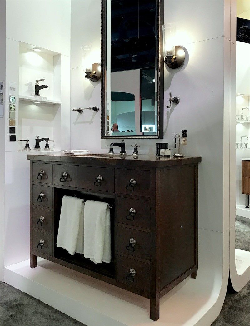 Surprising Discoveries At The Kitchen And Bath Show 2019 Blue Bathroom Interior Bathroom Interior Design Kitchen And Bath Design