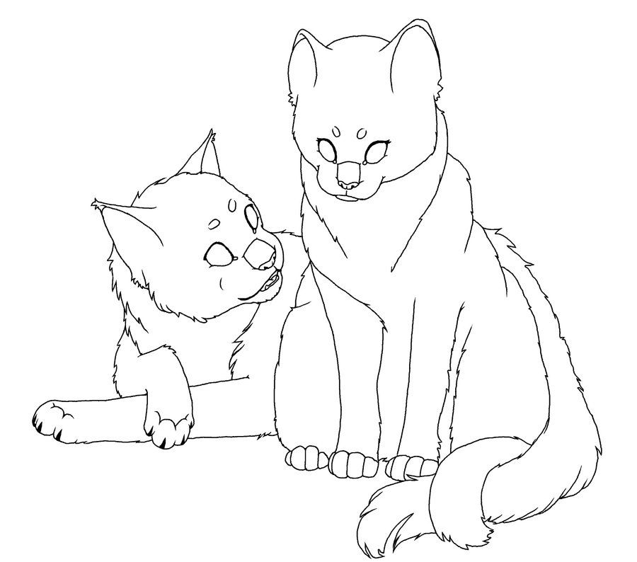 Two Cats Line Drawing Google Search Cat Coloring Page Warrior Cats Warrior Cat