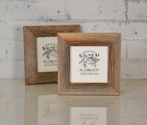 5x5 Picture Frame In 15 Wide Rustic Natural Reclaimed Cedar