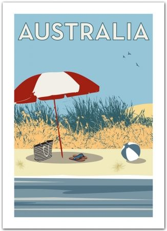 VINTAGE GEELONG VICTORIA AUSTRALIA TRAVEL A4 POSTER PRINT