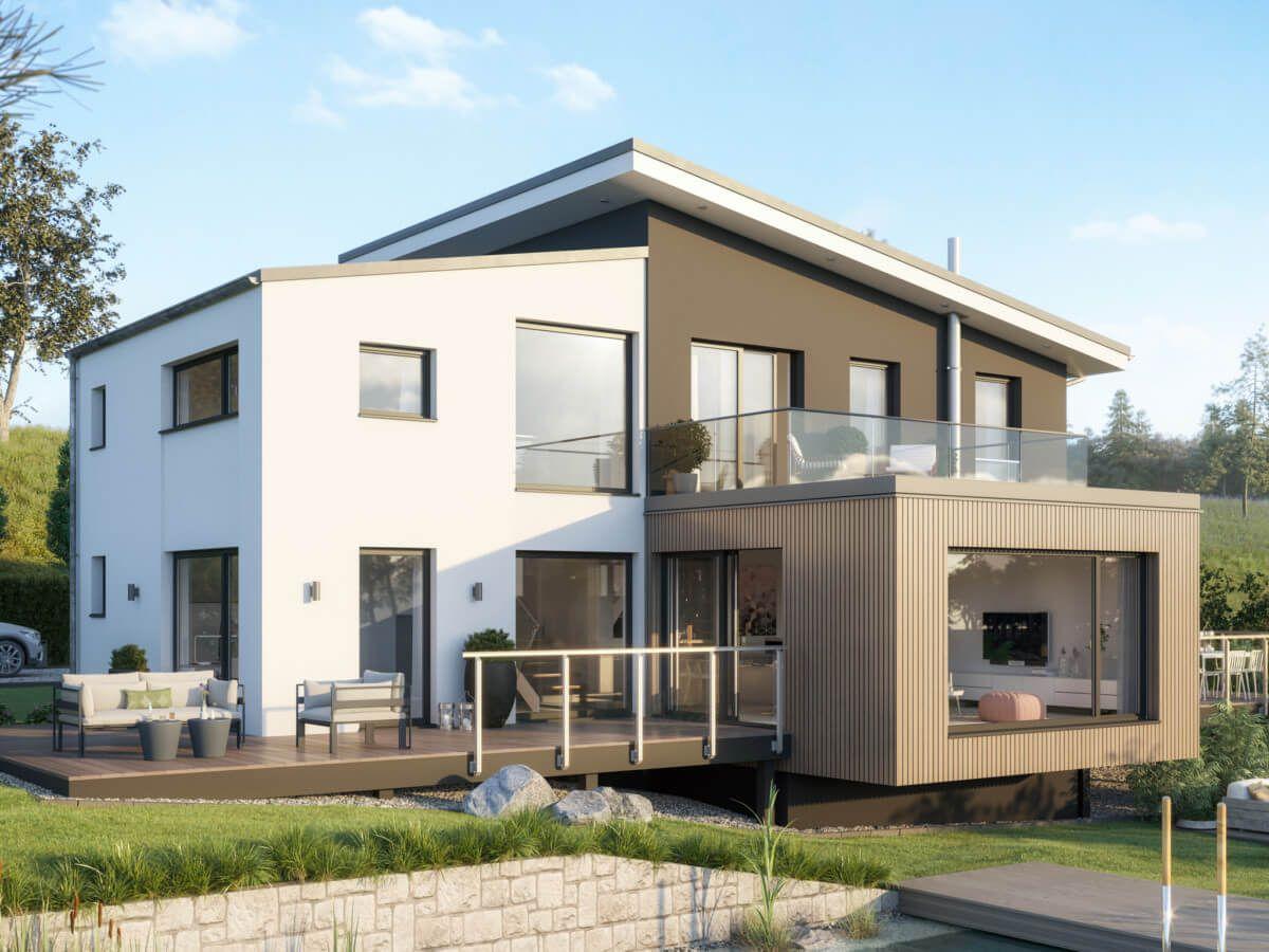 Modernes Haus Design mit Pultdach Architektur & Büro ...