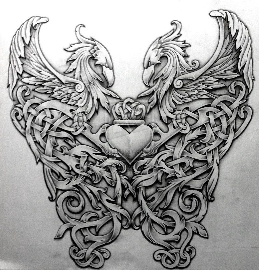 Tattoos Celtic Norse Celtic Phoenix By Tattoo-Design
