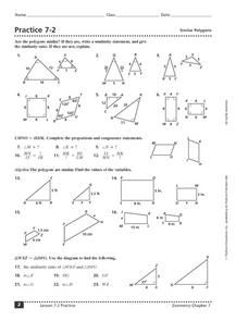 Similar Polygons Worksheet Answers : similar, polygons, worksheet, answers, Similar, Figures, Worksheet, Grade, Nidecmege