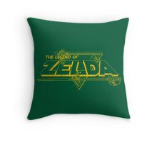 The Legend of Zelda - Classic Logo (Worn) Throw Pillow