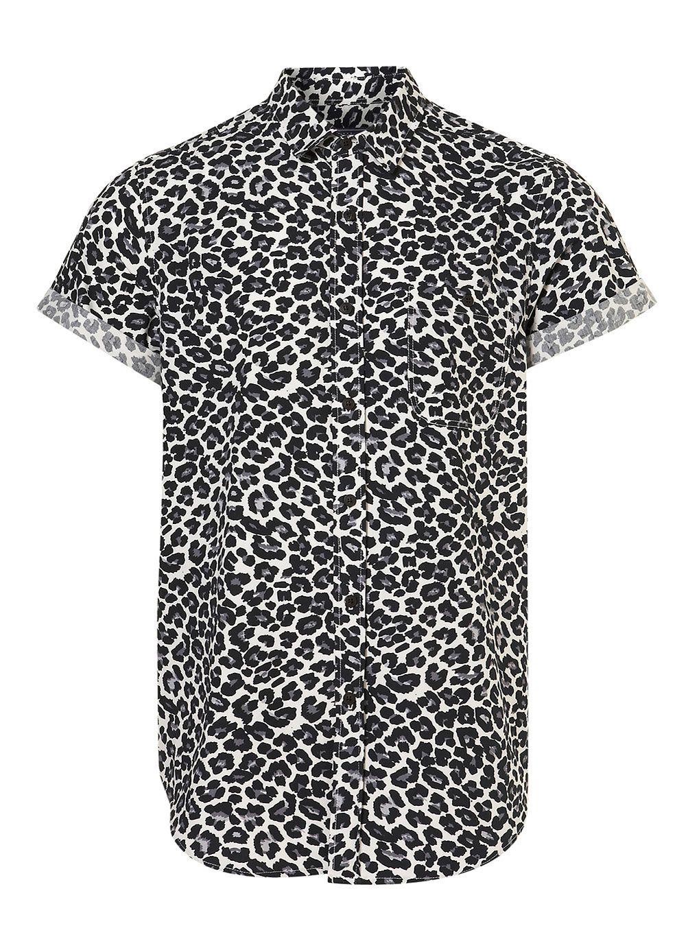 Black White Leopard Print Short Sleeve Shirt Leopard Print Shorts Leopard Print Shirt Cool Shirts For Men [ 1385 x 1019 Pixel ]