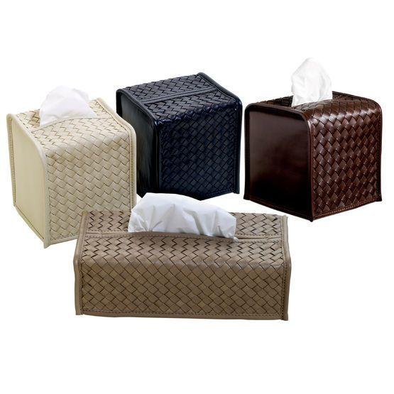 "Decorative Tissue Box Cover Milano"" Leather Tissuebox Covers  Leather Accessories"