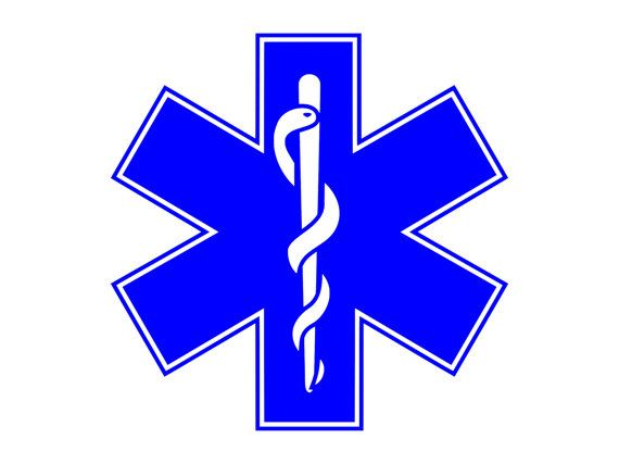 STAR OF LIFE EMS EMT SYMBOL VINYL DECAL//STICKER   CHOOSE YOUR COLOR AND SIZE