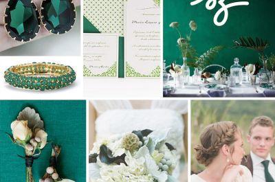 0b18aab05 Una boda esmeralda  El color de lujo para decorar una fecha tan especial