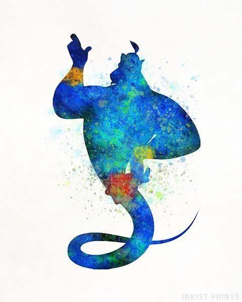 Genie aladdin type 1 print disney pinterest dessin - Peinture princesse disney ...
