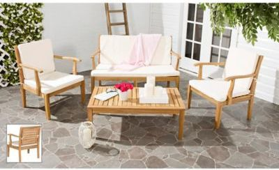 Safavieh Fresno 4 Piece Patio Furniture Set. #ad Http://shopstyle