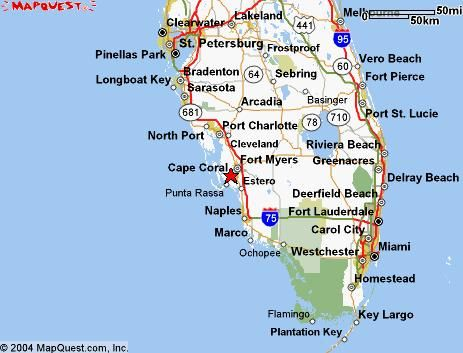 Southwest Florida Map With Cities.Cape Coral Florida Maps Of Cape Coral Vacation Homes Cape