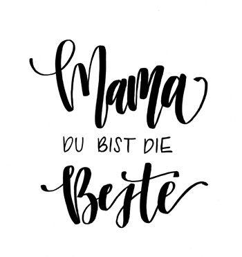 Muttertag Brush Lettering Printable Frau Holle Studio Lettering Pinselschrift Muttertag