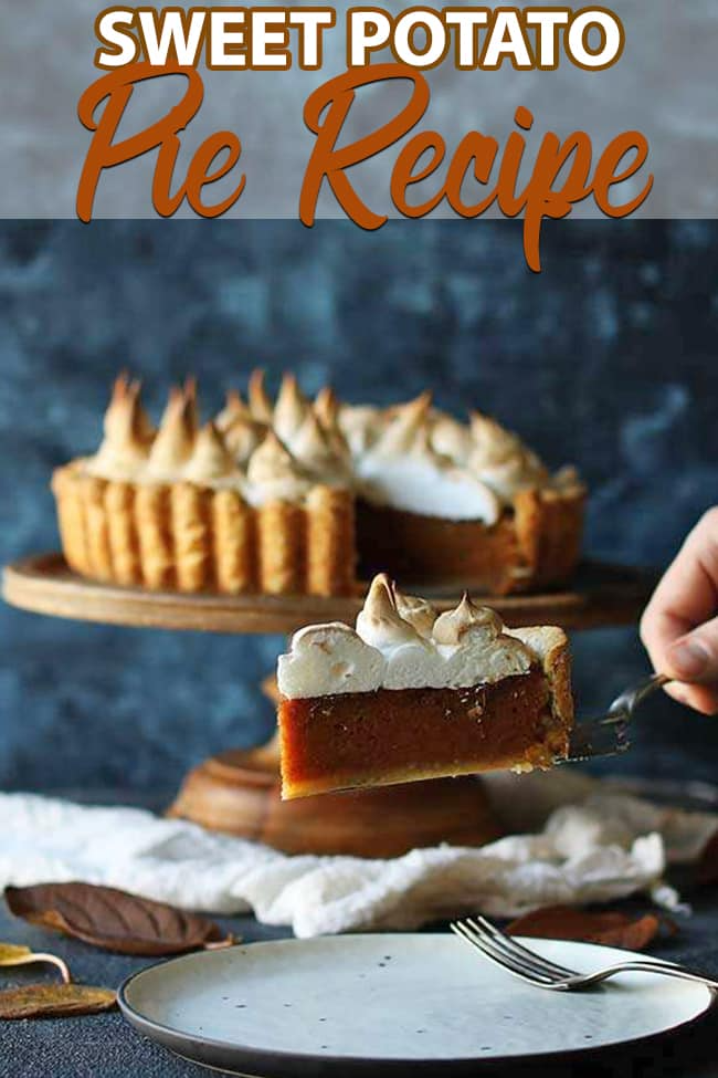 Sweet Potato Pie Recipe With Marshmallow Merengue Recipe In 2020 Sweet Potato Pie Sweet Potato Pies Recipes Pie Recipes