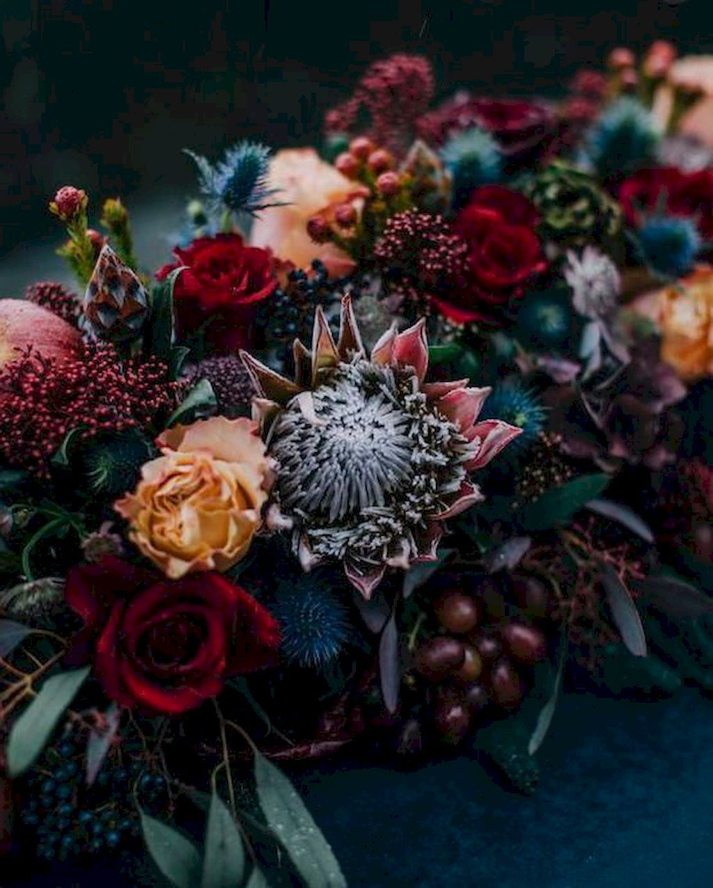 Jewel Tone Wedding Flowers: Exotic Fall Wedding Decoration Ideas