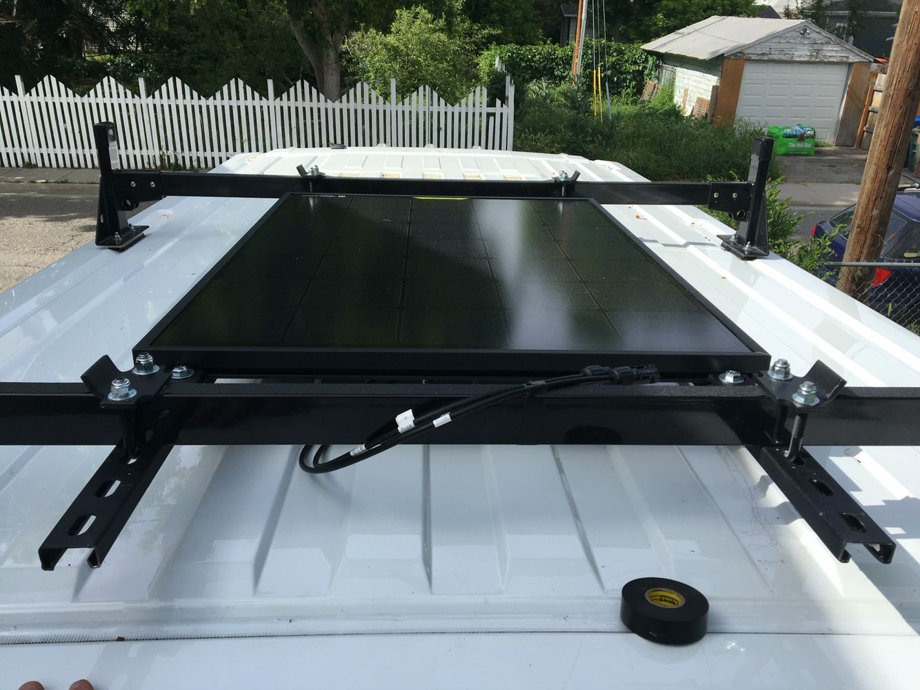 Finished Mounting Up Goal Zero Nomad 90 Solar Panel Diy Campervan Rv Solar Solar Panels