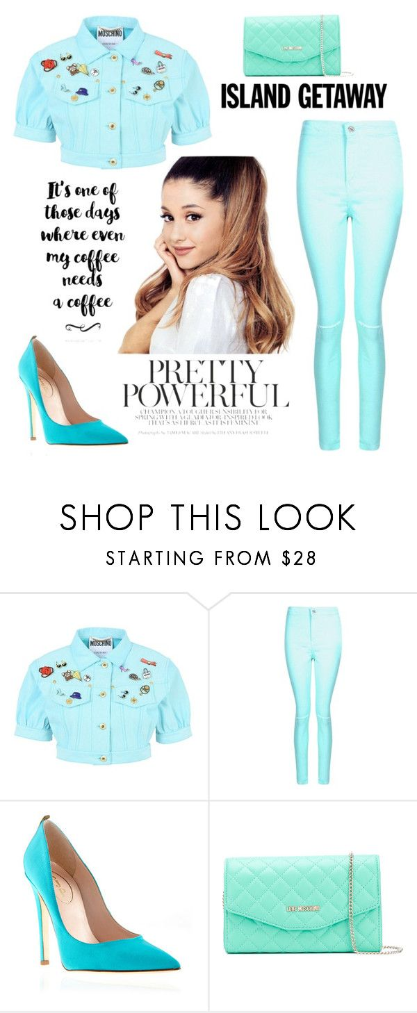 """""""🎵💙"""" by andreea-maria-happygirl ❤ liked on Polyvore featuring Moschino, Boohoo and Love Moschino"""