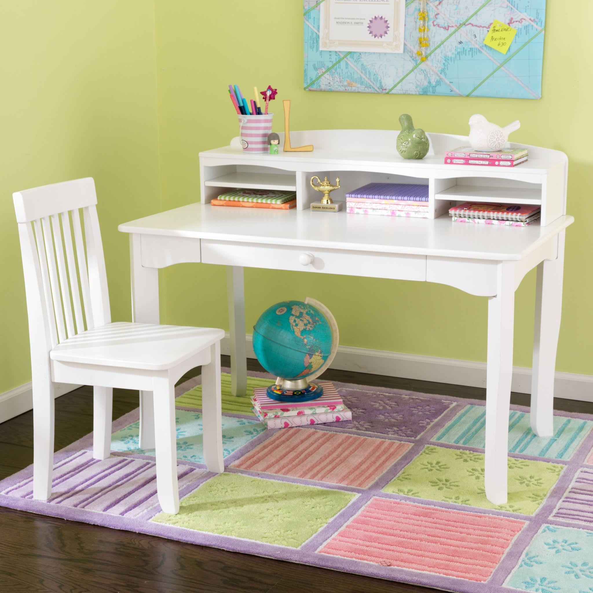 Kidkraft Avalon Desk With Hutch - White 26705 206 Kidkraft'