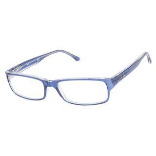8e4a8a4ab23 Ray-Ban RB5114 5111 Dark Blue Transparent Prescription Eyeglasses   148    Overstock