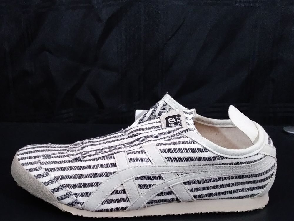 onitsuka tiger mexico 66 slip on black and white lan force