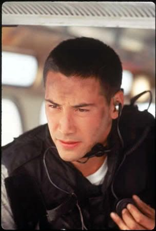 Keanu Reeves as Jack Traven in 'Speed' #eyecandy #handsome