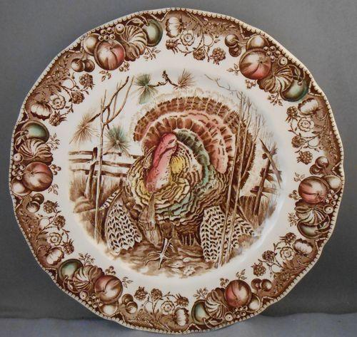 Johnson Brothers HIS MAJESTY Turkey 8 Dinner Plates Old Brown Mark & Johnson Brothers HIS MAJESTY Turkey 8 Dinner Plates Old Brown Mark ...