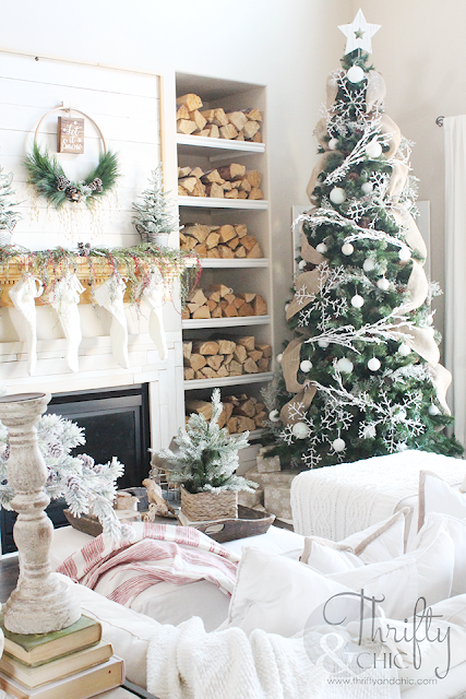 farmhouse christmas home tour part 3 christmas pinterest rh pinterest com