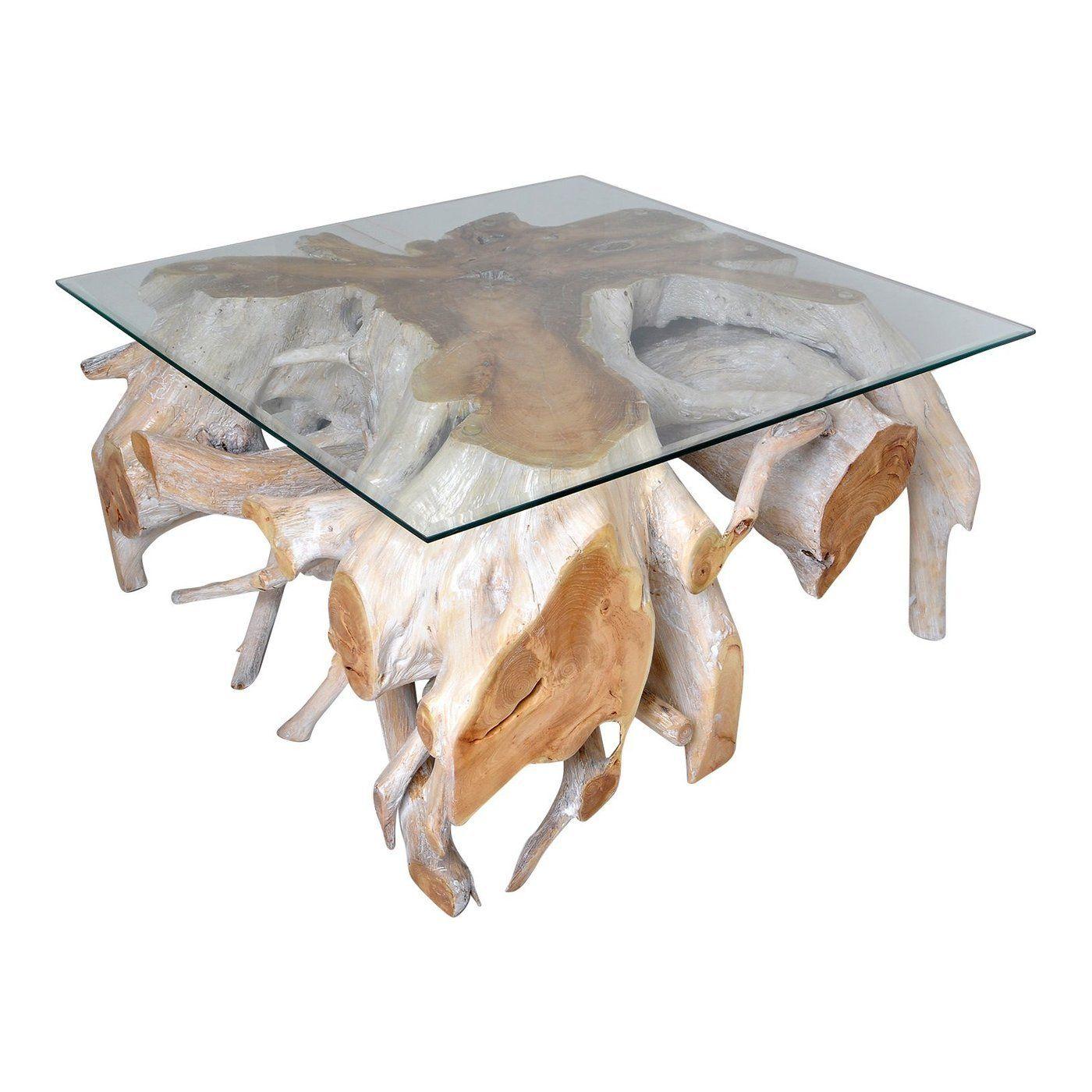Batu batu teak root coffee table | Whitewash coffee table ...